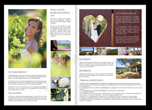 Brochure Design by Pinky  - WEDDING BROCHURE FOR BOUTIQUE VINEYARD