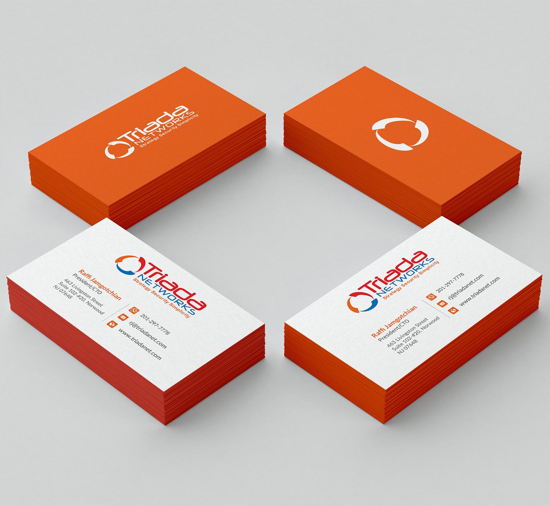 Fett Modern It Company Visitenkarten Design Für Triada