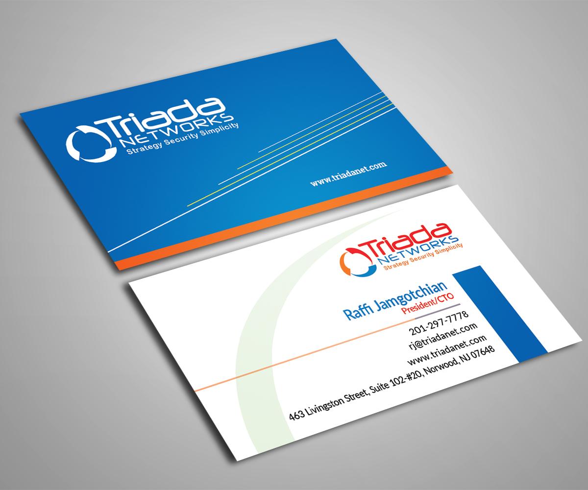 Bold, Modern, It Company Business Card Design for Triada Networks ...