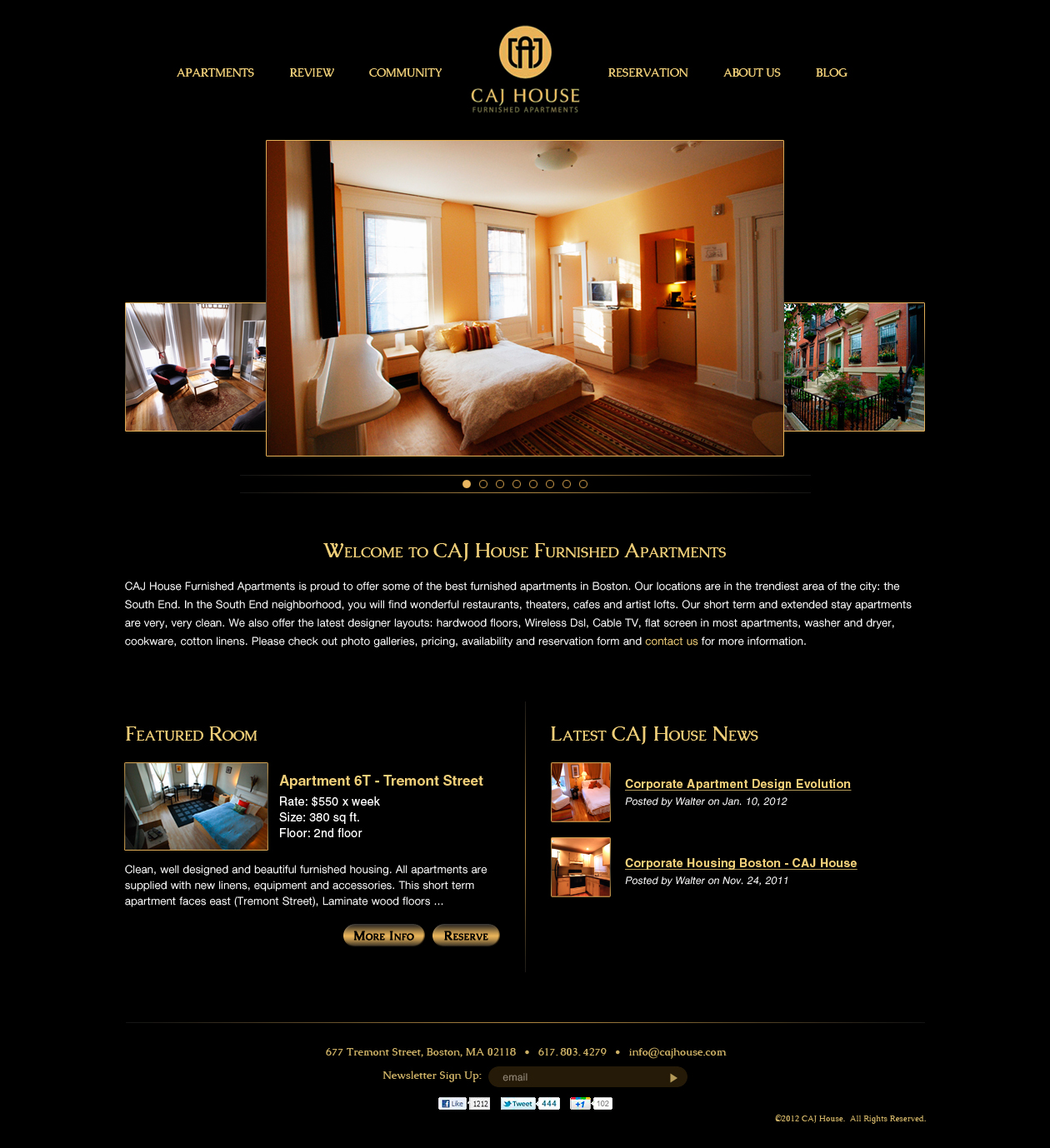 L gant haut de gamme apartment web design for caj house for Apartment web design
