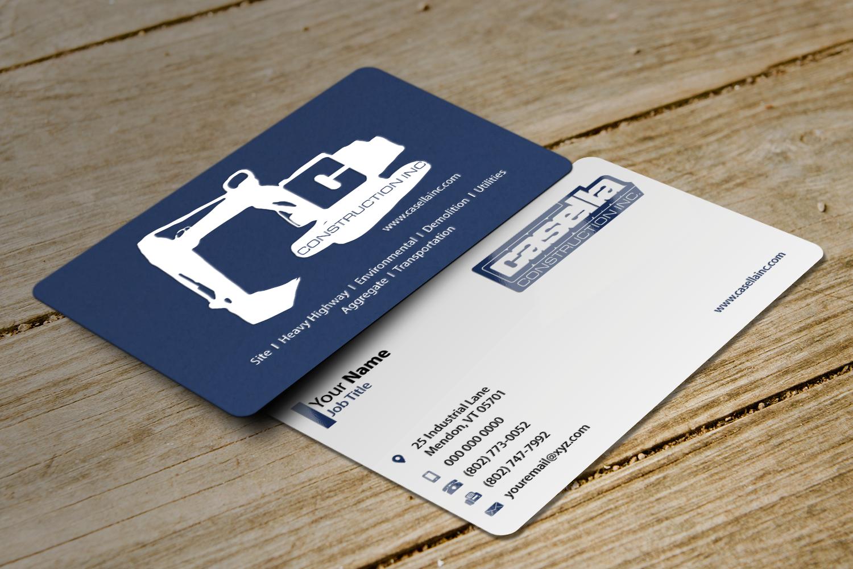 Masculine bold business business card design for casella business card design by riz for casella construction design 15048018 reheart Choice Image