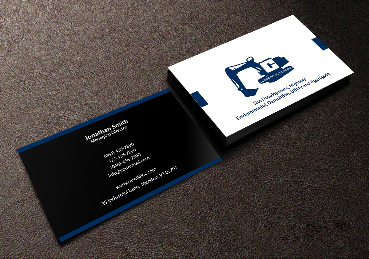 Masculine, Bold Business Card Design for Casella Construction by ...