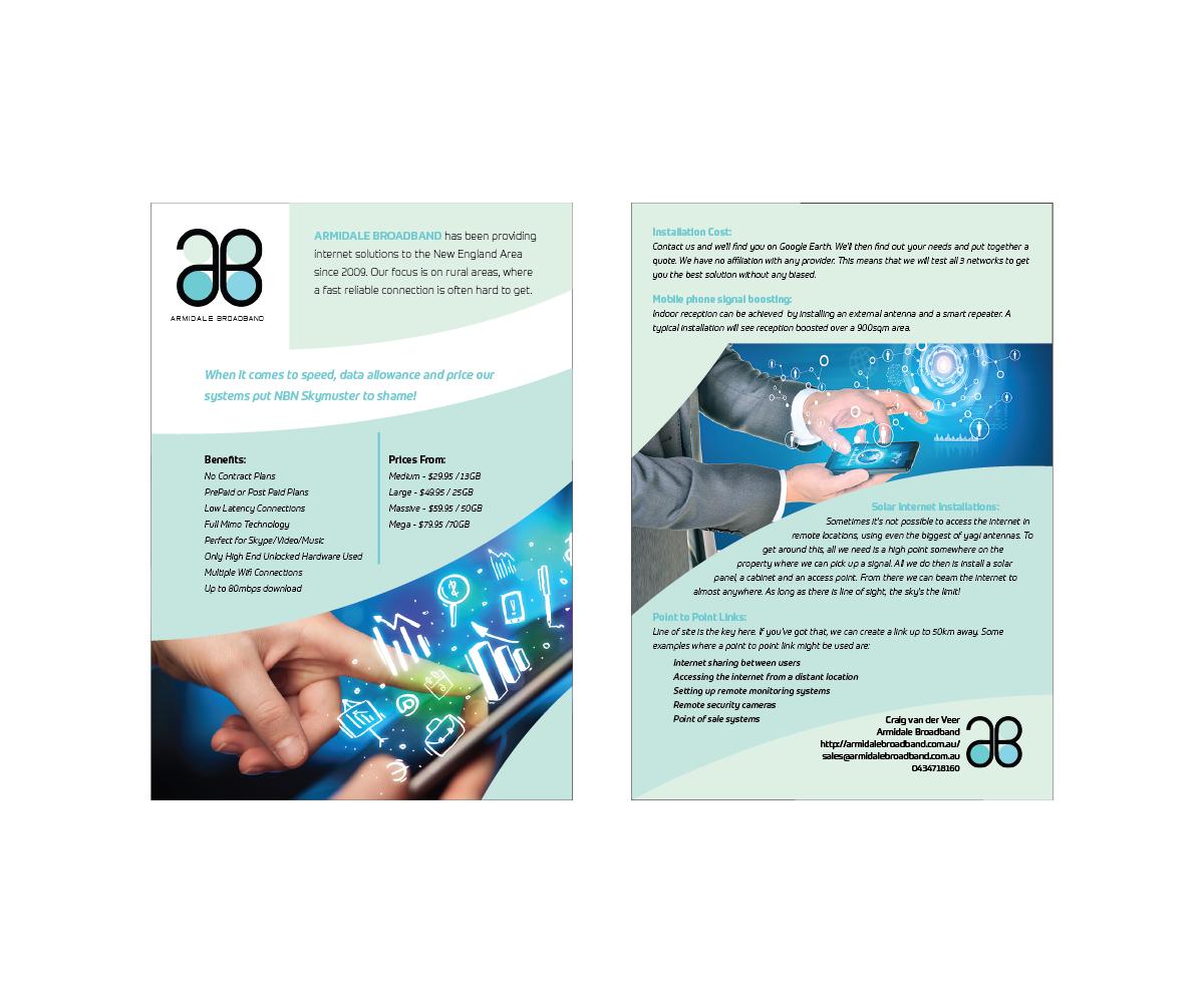 Elegant, Playful, Wireless Internet Flyer Design for Craig