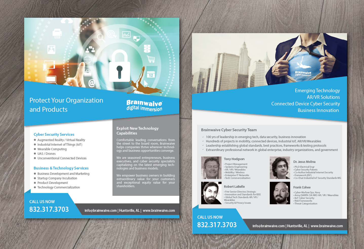 serious professional information technology flyer design for
