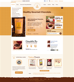 Web Design by 3dicon - Intentional Chocolate needs to spice up their w...