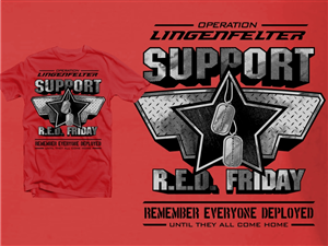 T-shirt Design by Hatemachine - Racing Industry - Military Support Shirt