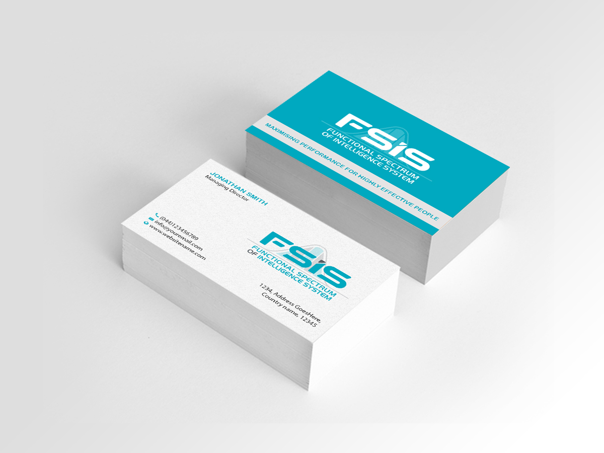 Professional upmarket business consultant business card design for business card design by creations box 2015 for this project design 17056403 reheart Choice Image