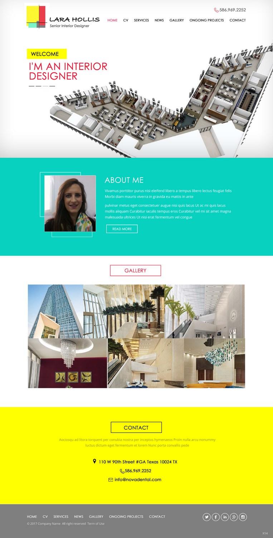 Elegant, Modern, Interior Web Design for a Company by pb