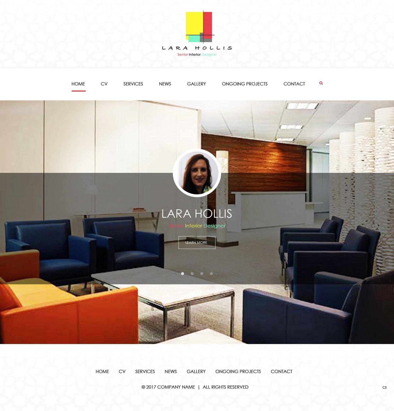 Elegant, Modern, Interior Web Design for a Company by pb   Design