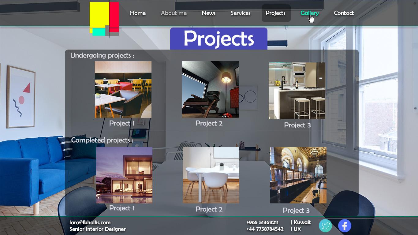 Elegant, Modern, Interior Web Design for a Company by Milan ...