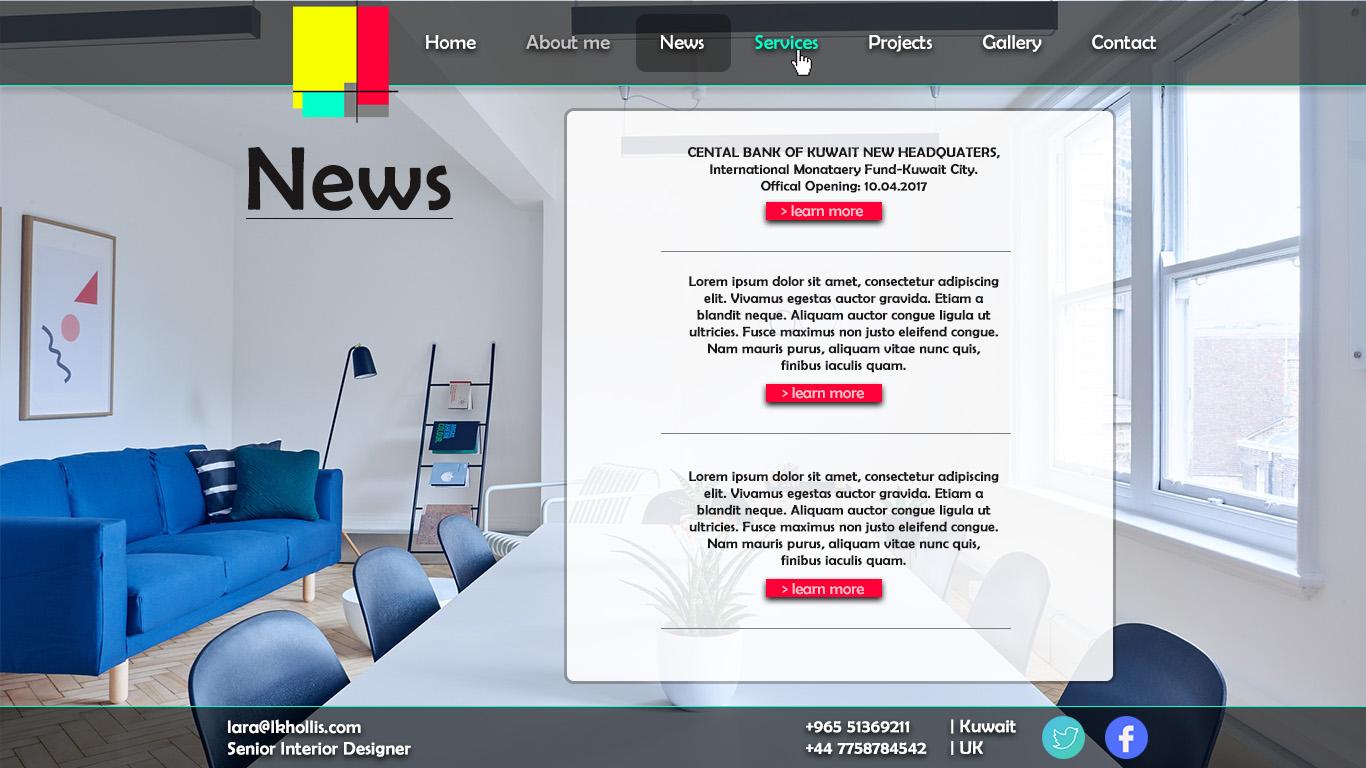 Elegant, Modern, Interior Web Design for a Company by Milan