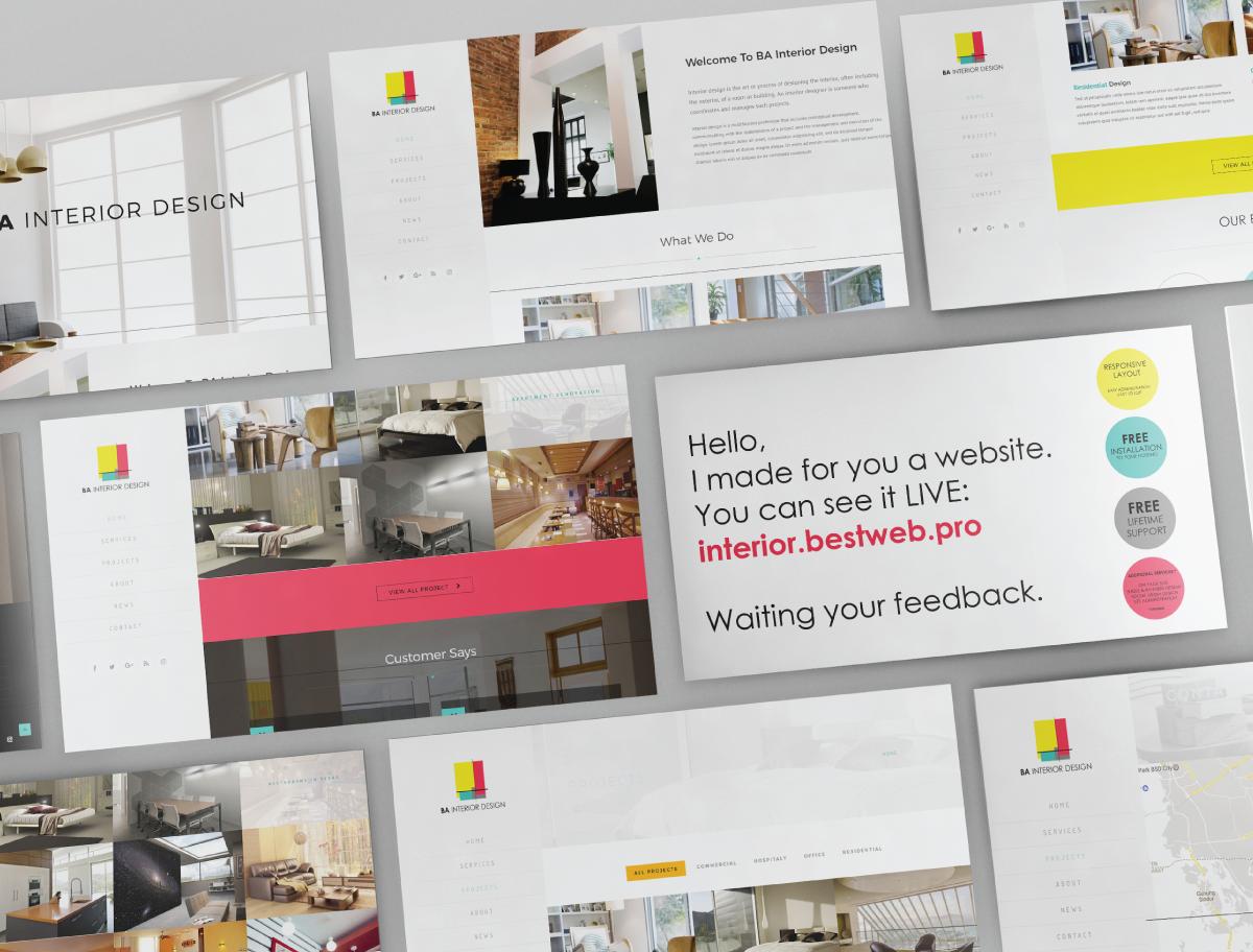 Elegant, Modern, Interior Web Design for a Company by COO COO design