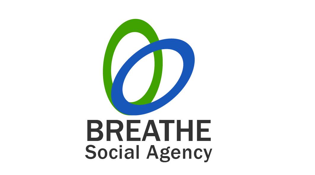 Modern Upmarket Ad Agency Logo Design For Breathe Social Agency By