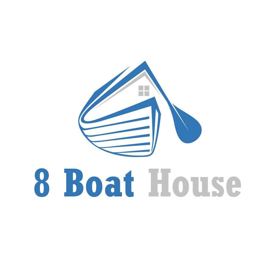 Conservative Masculine House Logo Design For 8 Boat House