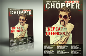 Poster Design by kaatem - Australian Comedian CHOPPER Needs New Tour Poster