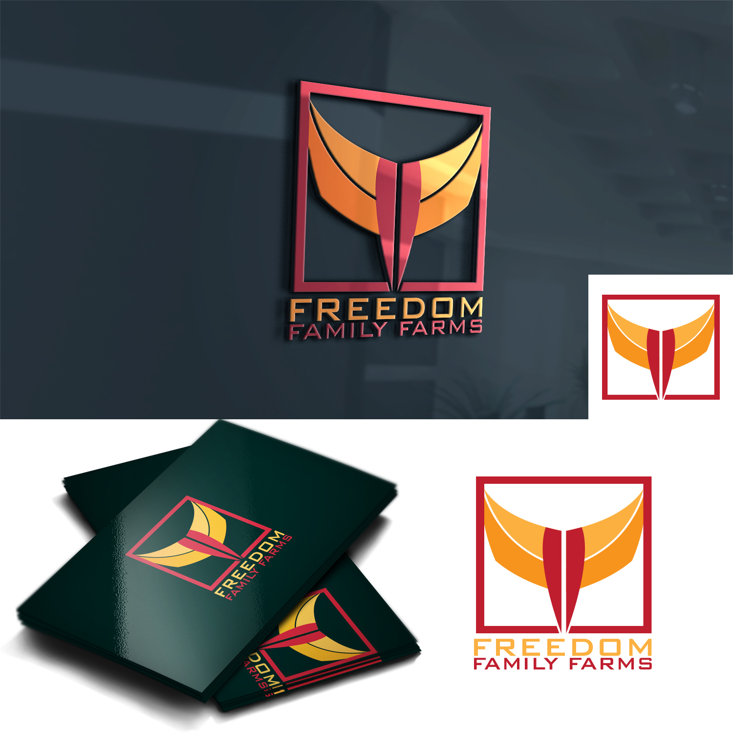 Traditional Personable Agriculture Logo Design For Freedom