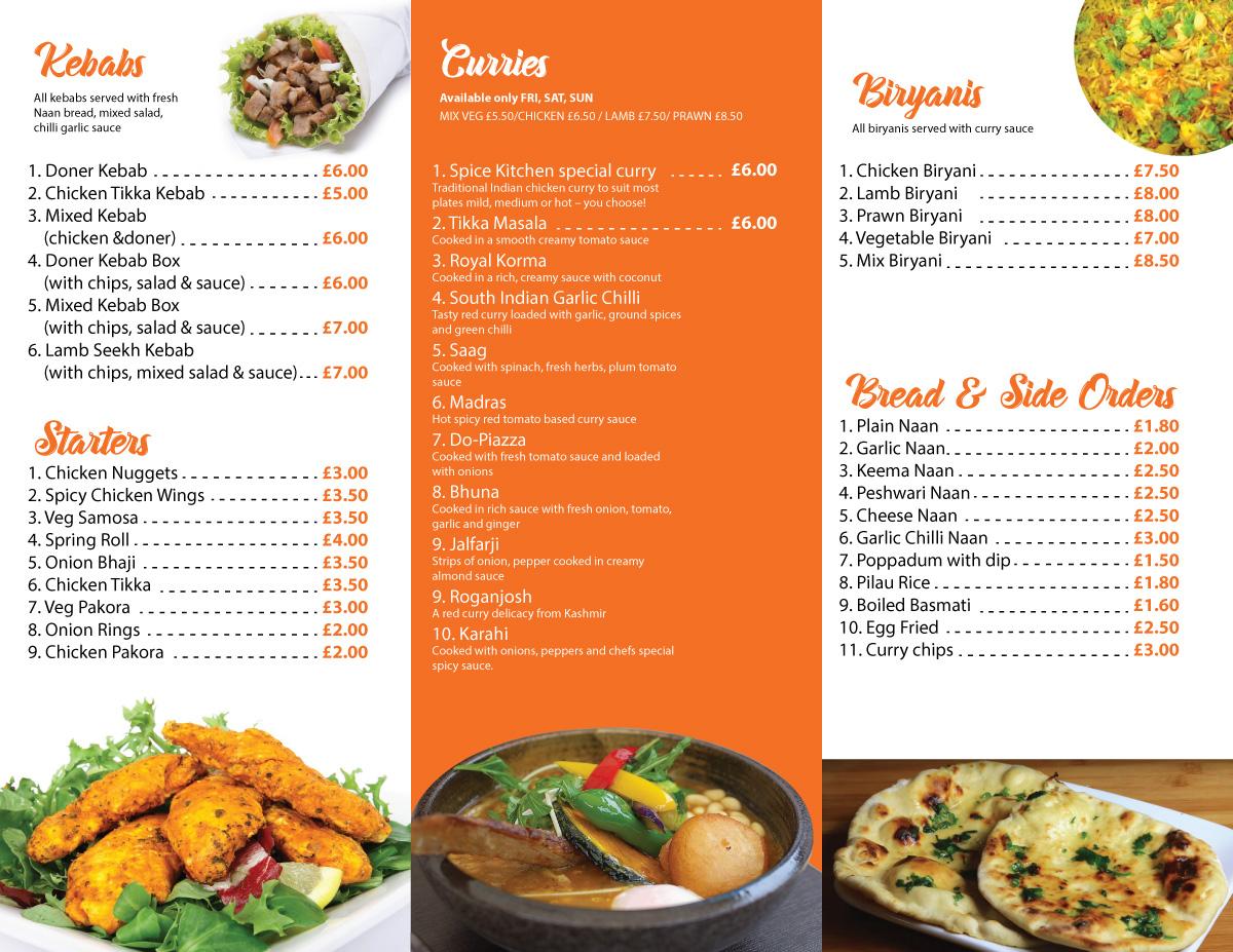 Elegante Moderno Indian Restaurant Diseno De Flyer For Spice Cottage Por Sergio Coelho Diseno 14958939