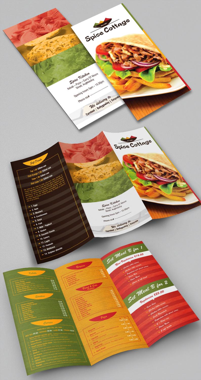 Elegante Moderno Indian Restaurant Diseno De Flyer For Spice Cottage Por Designanddevelopment Diseno 14954267