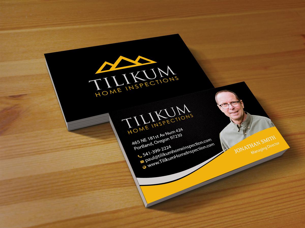 121 Upmarket Business Card Designs | Home Inspection Business Card ...