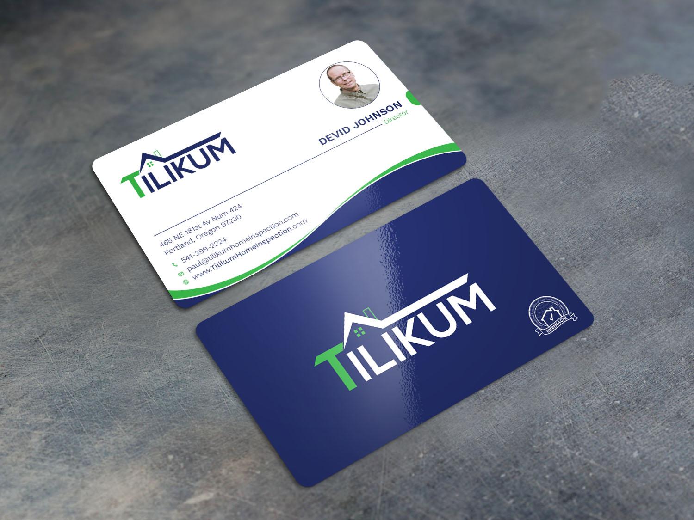 Upmarket, Bold, Home Inspection Business Card Design for Tilikum ...