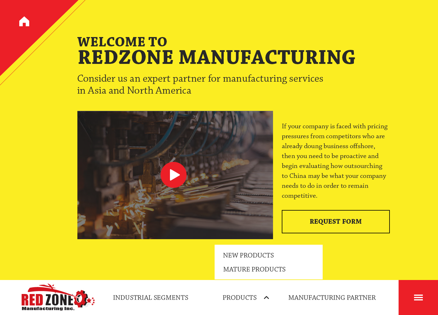 Bold, Modern, Electrical Web Design for Redzone Manufacturing by ...