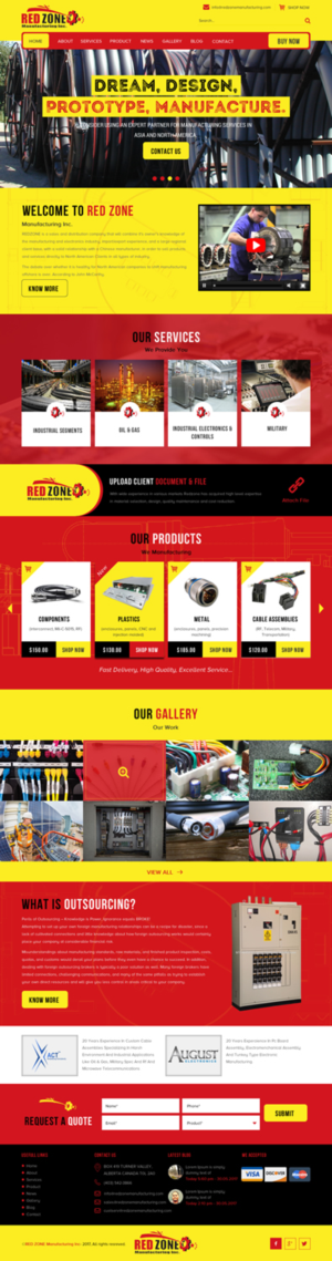 Bold, Modern Web design job. Web brief for Redzone Manufacturing, a ...