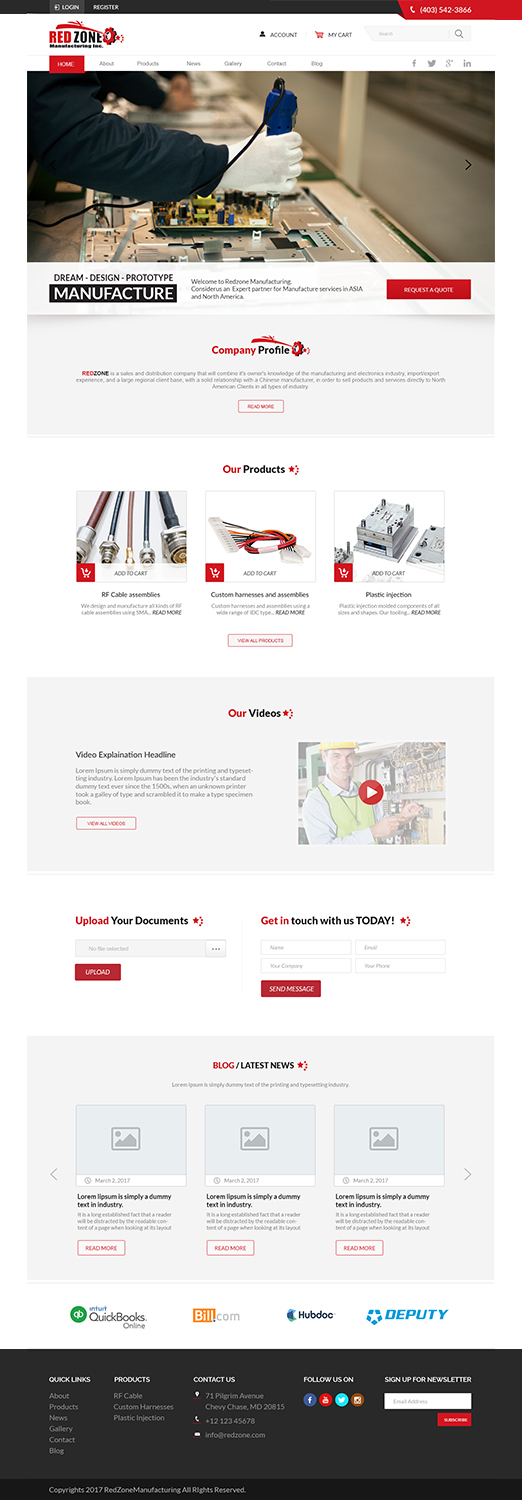 Bold, Modern Web Design for Redzone Manufacturing by ...