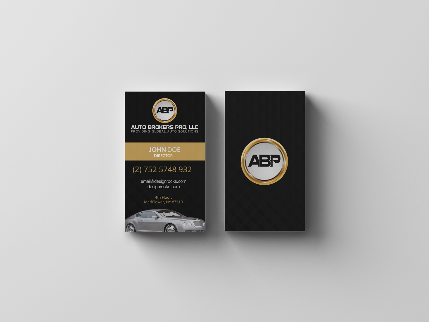 Upmarket Elegant Automotive Logo Design For Auto Brokers Pro Llc