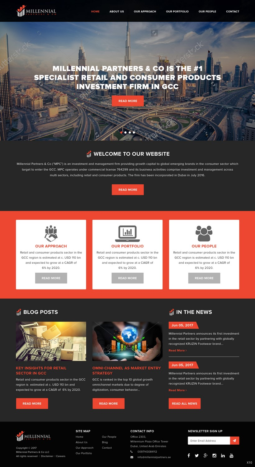 Bold Serious Financial Service Web Design For Millennial Capital By Pb Design 15032514