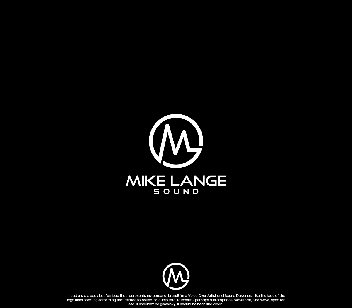 Modern Playful Logo Design For Mike Lange Sound By Gbdesign
