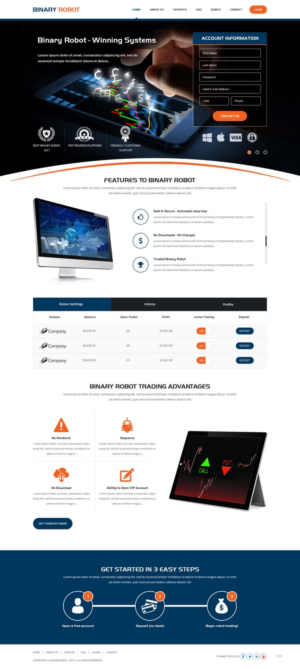 Binary options landing page fixed odds betting terminals rigged up charters
