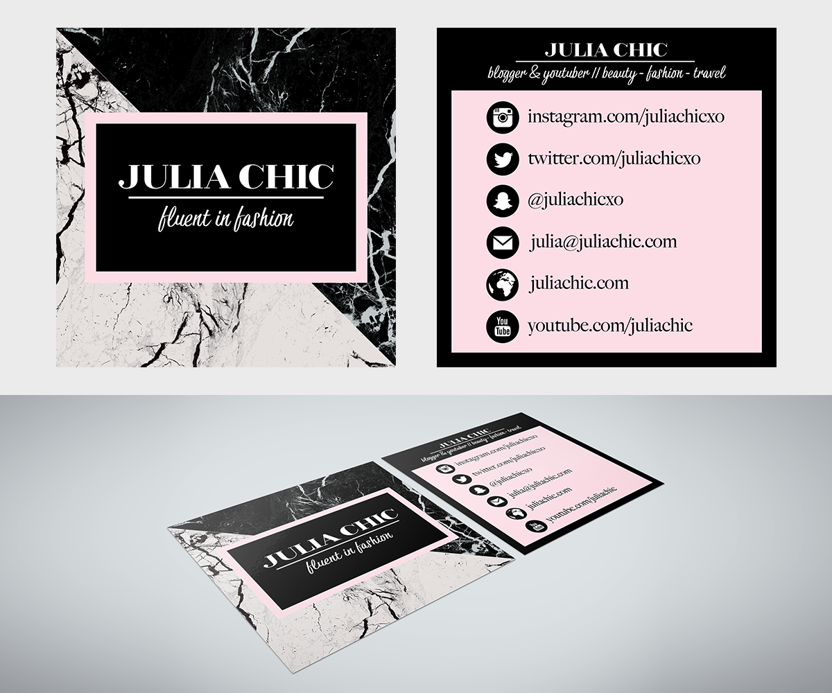 Feminine upmarket fashion business card design for a company by business card design by erin lawson for this project design 15031236 colourmoves