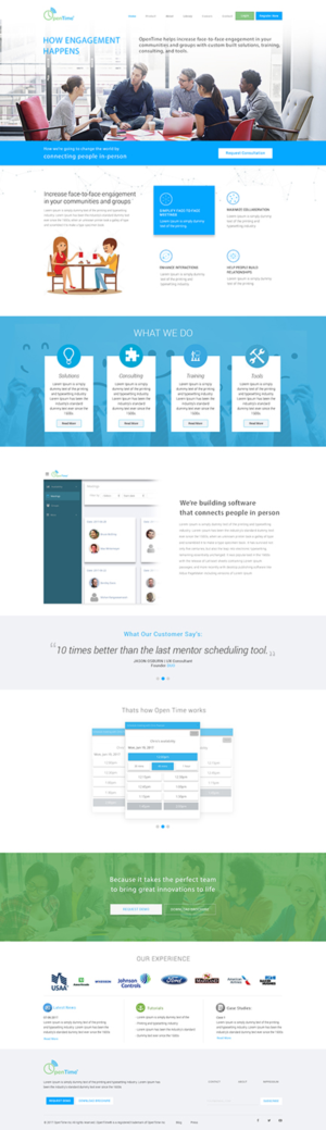 Modern bold web design job web brief for opentime a for Web design consultant
