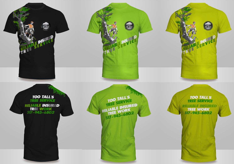 T shirt design job - Design T Shirts Jobs T Shirt Design Job Too Tall Tree Service Logo Design Winning