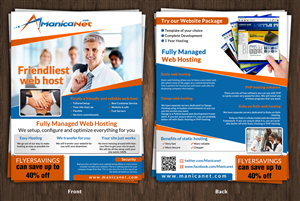 Flyer Design by ESolz Technologies - Web Hosting business needs a flyer design