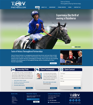 Web Design by smart - Thoroughbred Racing Partnership needs web design