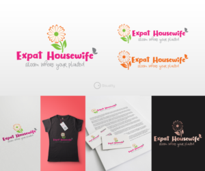 Personable, Feminine Logo Design for Expat Housewife by