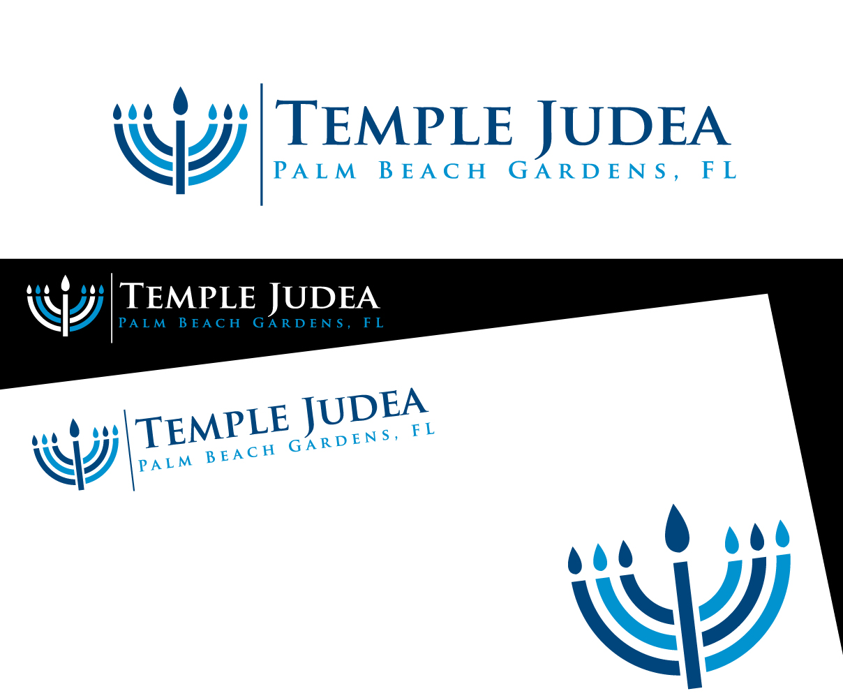Playful Modern Logo Design For Temple Judea Palm Beach Gardens Fl By Graphicsexpert Design
