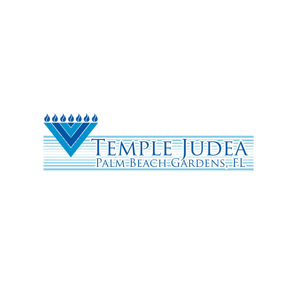Playful Modern Logo Design For Temple Judea Palm Beach Gardens Fl By Gajdorendre Design