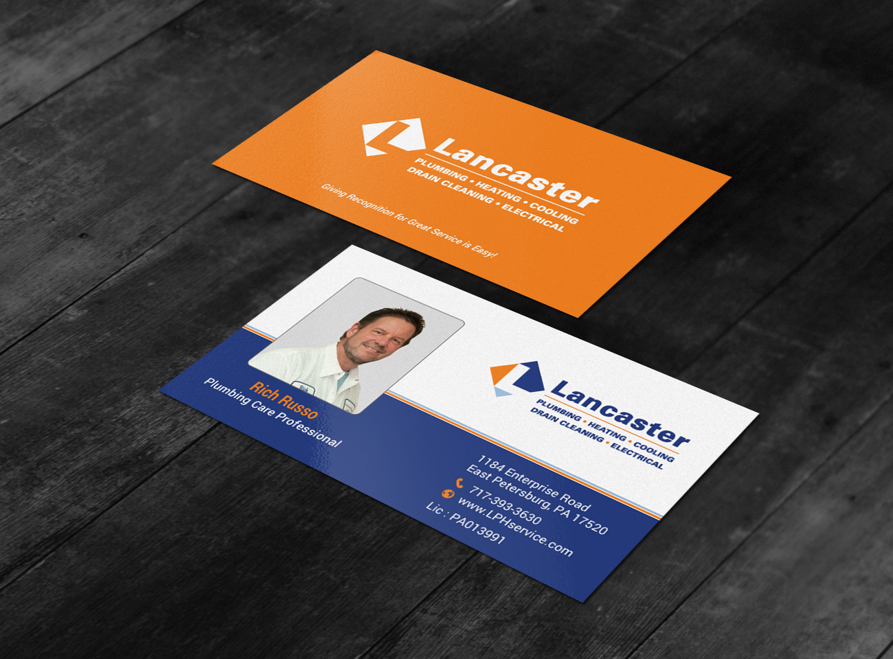 Professional Playful Residential Construction Business Card Design