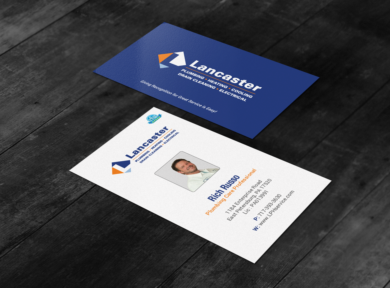 Professional playful residential construction business card design business card design by chandrayaaneative for lancaster plumbing heating design 15044497 colourmoves