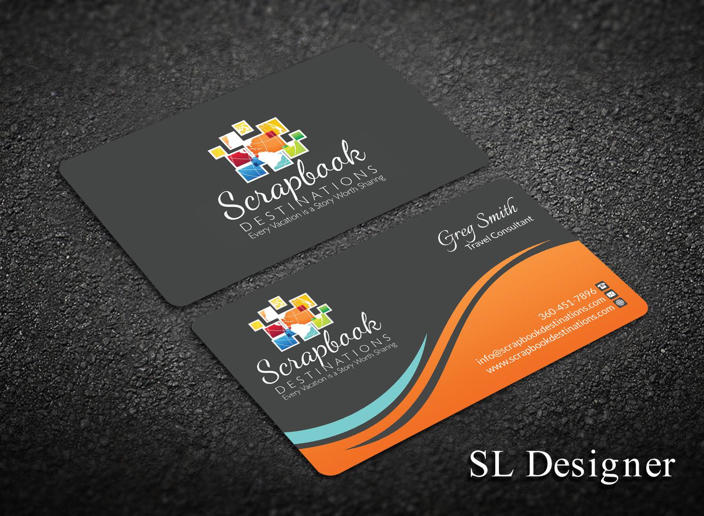 Professional modern travel agent business card design for business card design by sl designer for scrapbook destinations design 15055587 colourmoves