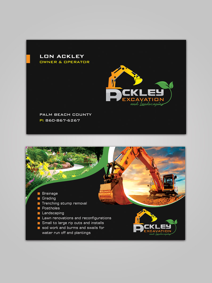 Bold playful landscaping business card design for a company by bold playful landscaping business card design for a company in united states design 15076311 colourmoves