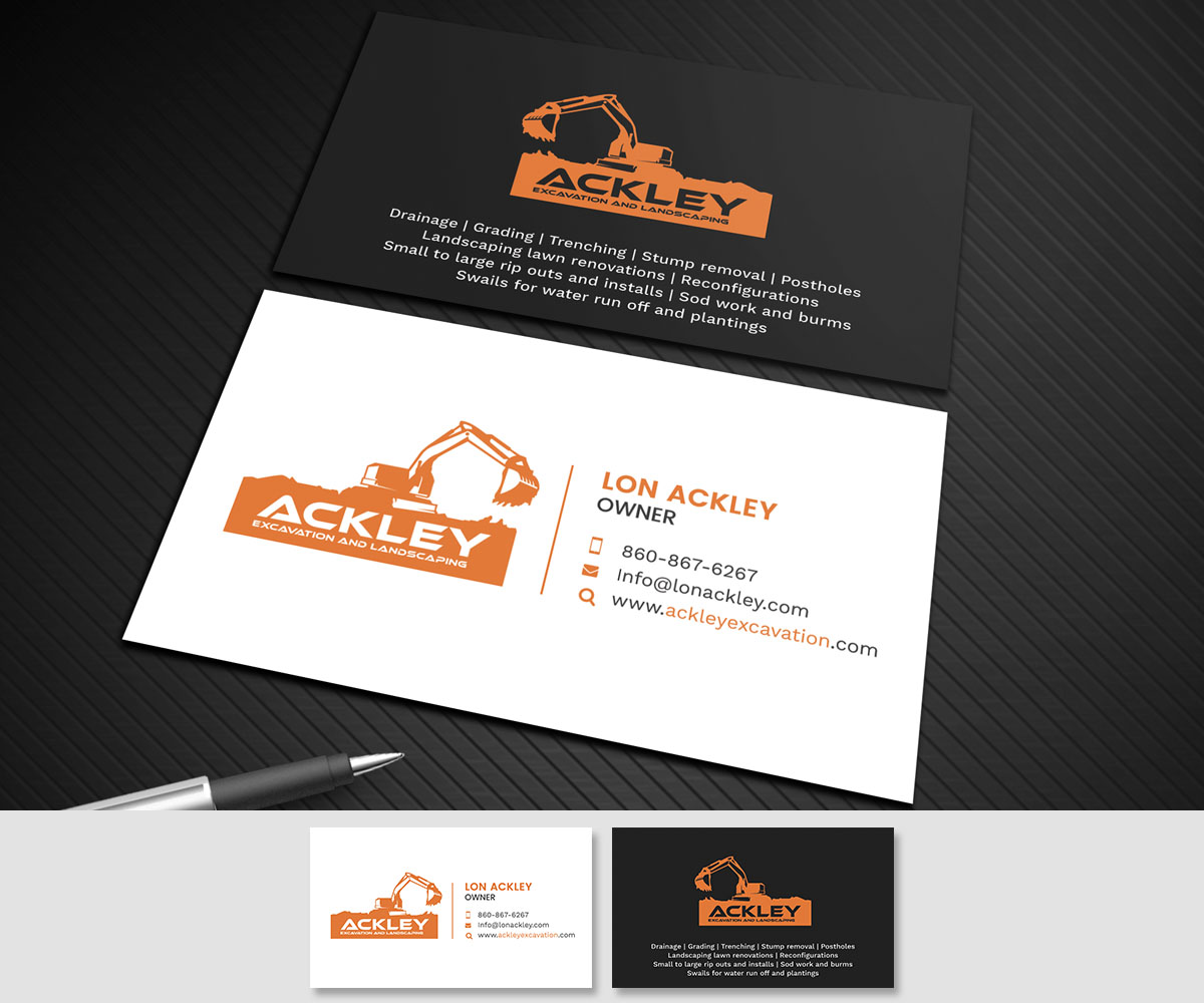 Bold, Playful, Landscaping Business Card Design for a Company by ...