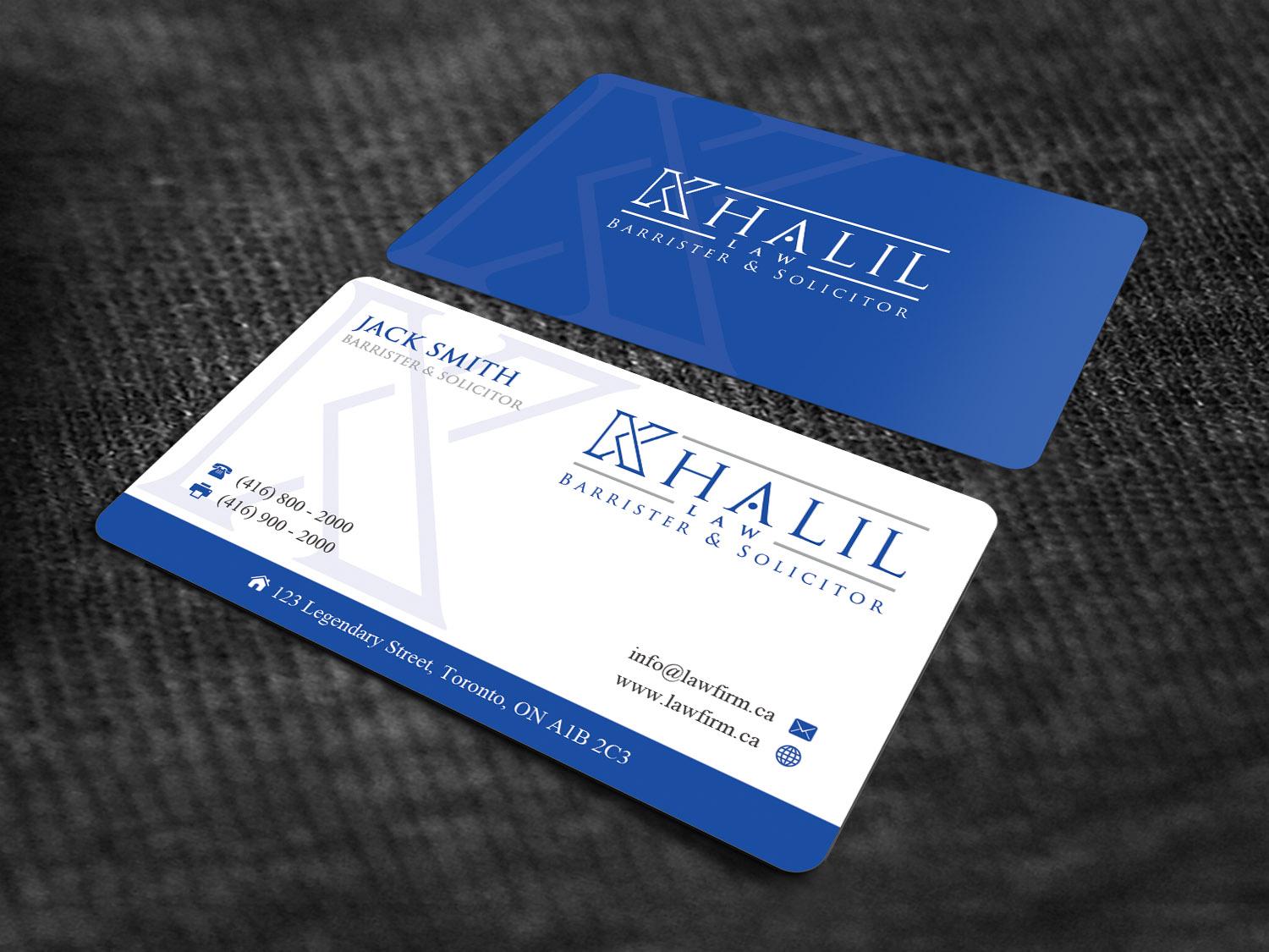 Playful Professional Legal Business Card Design For A Company By