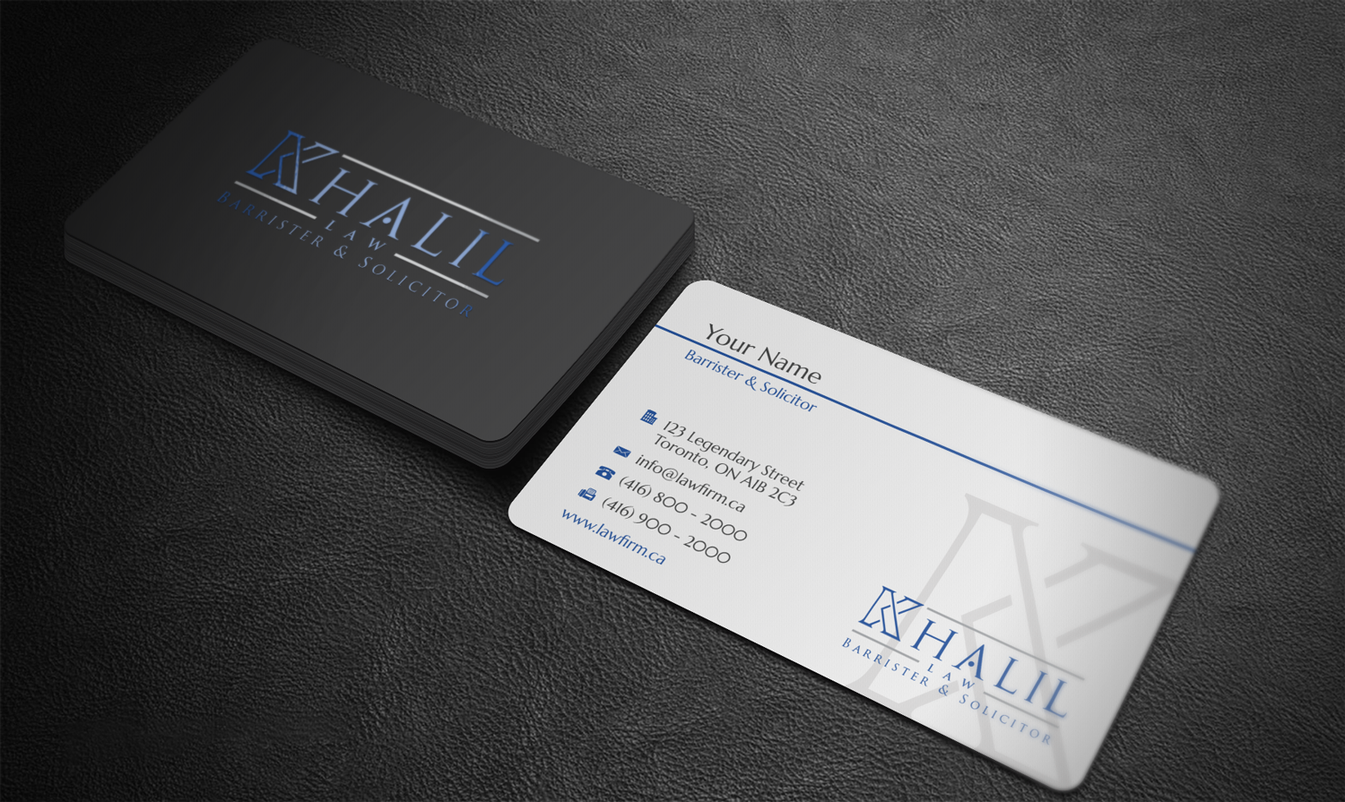 Playful, Professional, Legal Business Card Design for a Company by ...