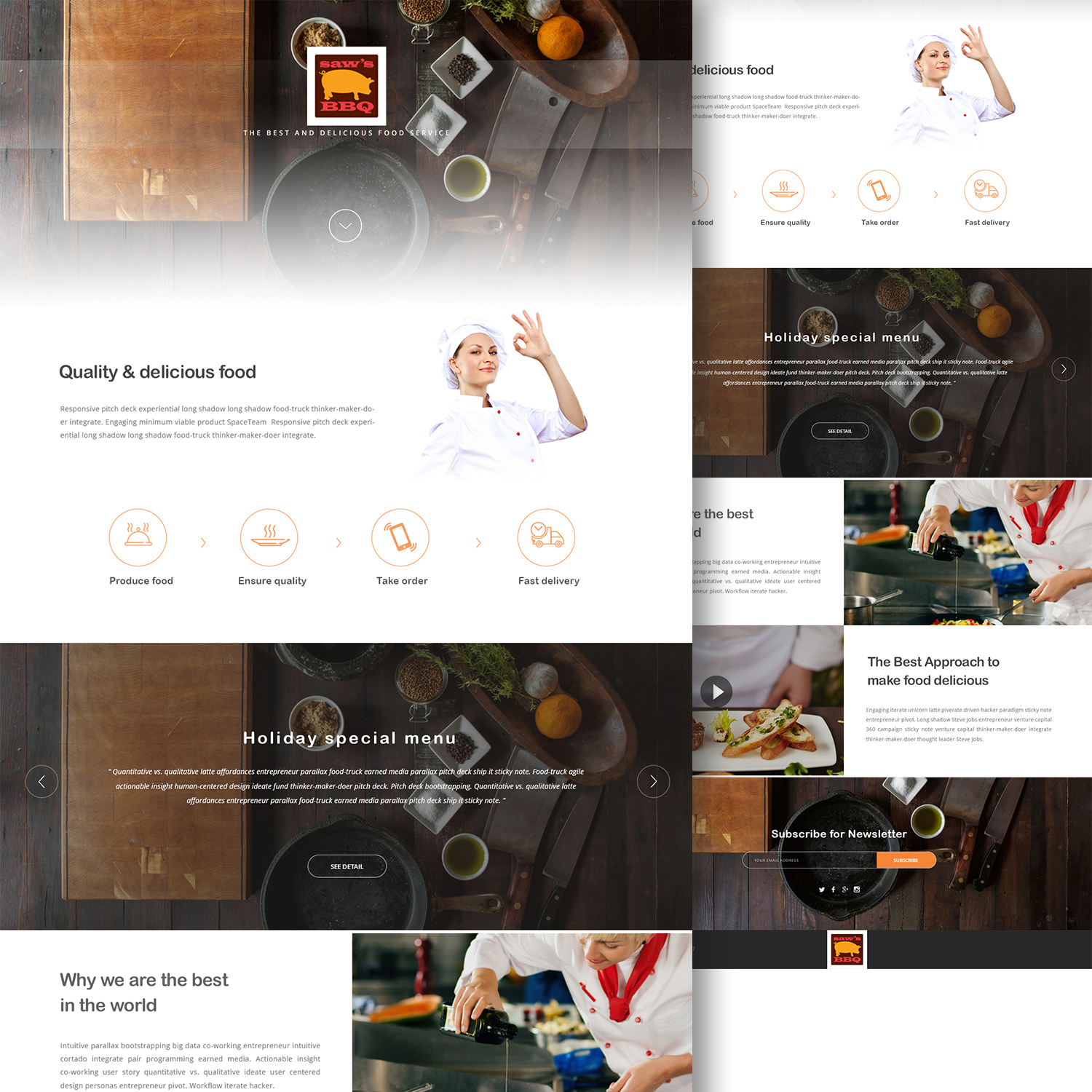Bold, Serious, Restaurant Web Design for flagstone search