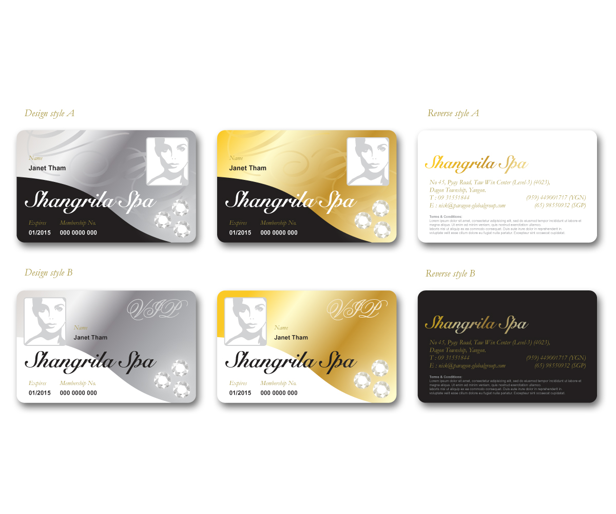 Graphic Design By Lucky Graphics For Spa Needs A Highly Desired Membership  Card   Design #  Membership Card Design