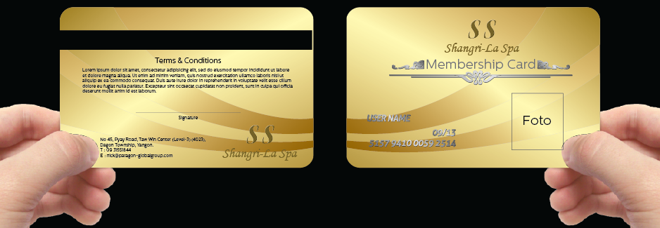 Graphic Design By Sinaglahi For Spa Needs A Highly Desired Membership Card    Design #2594911  Membership Card Design