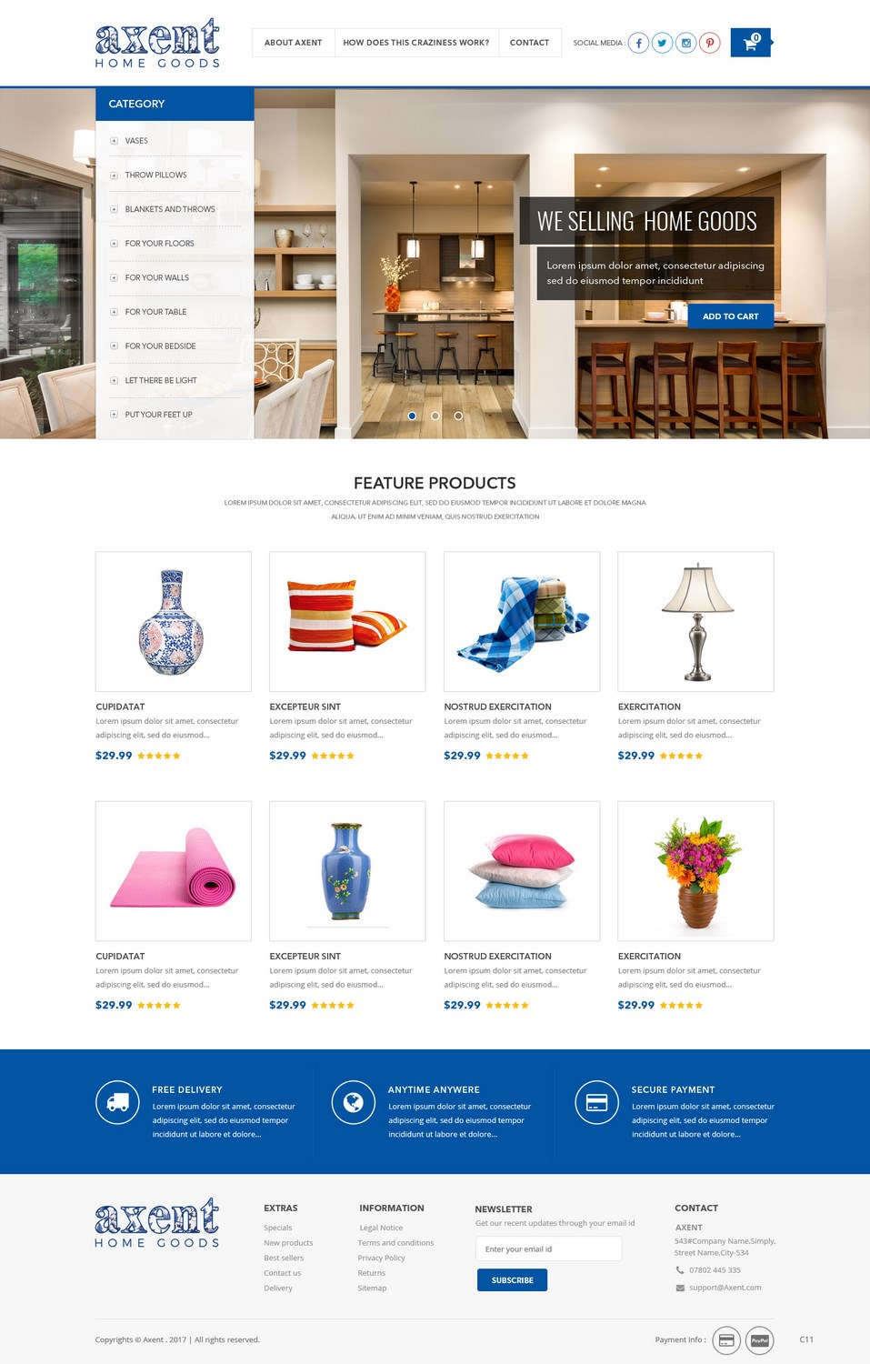 Bold, Playful, Home And Garden Web Design for a Company by pb ...